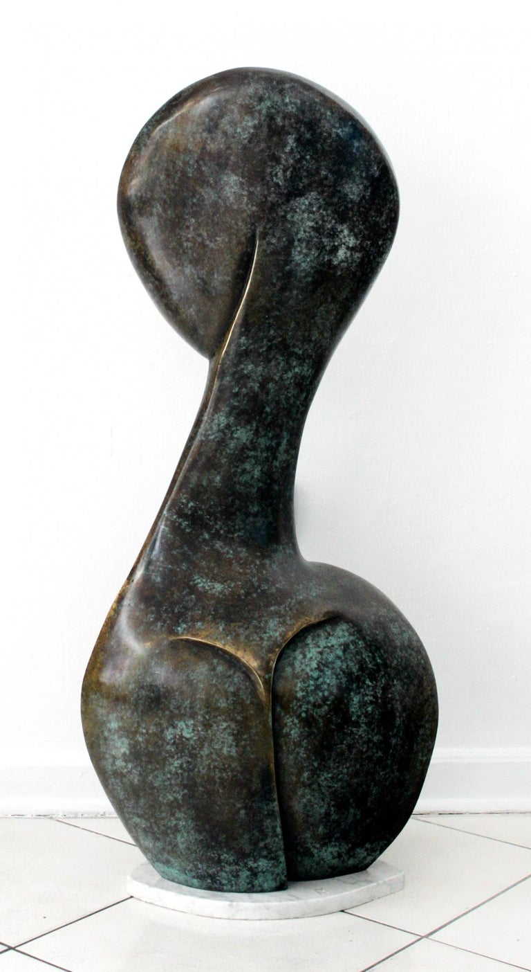 A muse - Contemporary Bronze Sculpture, Abstract, Figurative, Nude 1