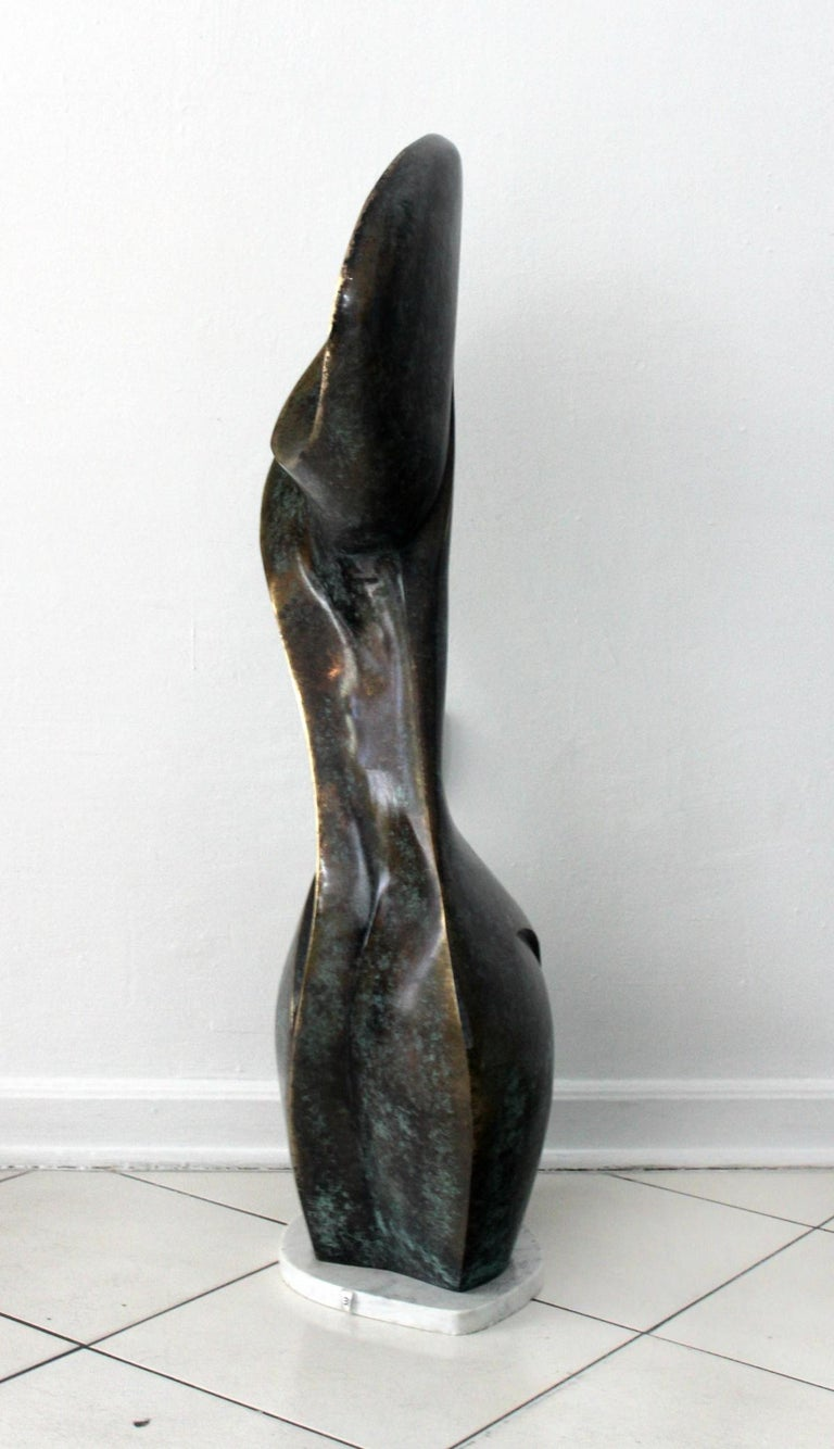 A muse - Contemporary Bronze Sculpture, Abstract, Figurative, Nude 2