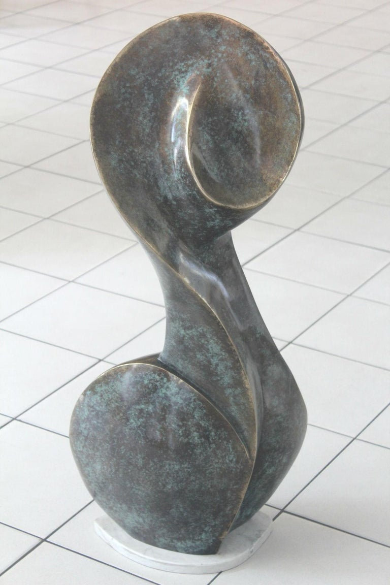A muse - Contemporary Bronze Sculpture, Abstract, Figurative, Nude 4