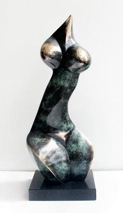 Nude - XXI Century, Contemporary Bronze Sculpture, Abstract, Figurative