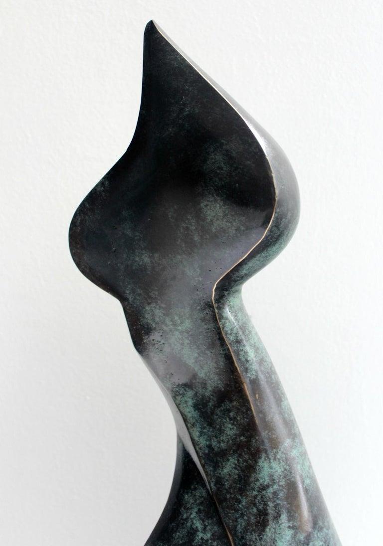 Nude - XXI Century, Contemporary Bronze Sculpture, Abstract, Figurative - Gold Figurative Sculpture by Stanisław Wysocki