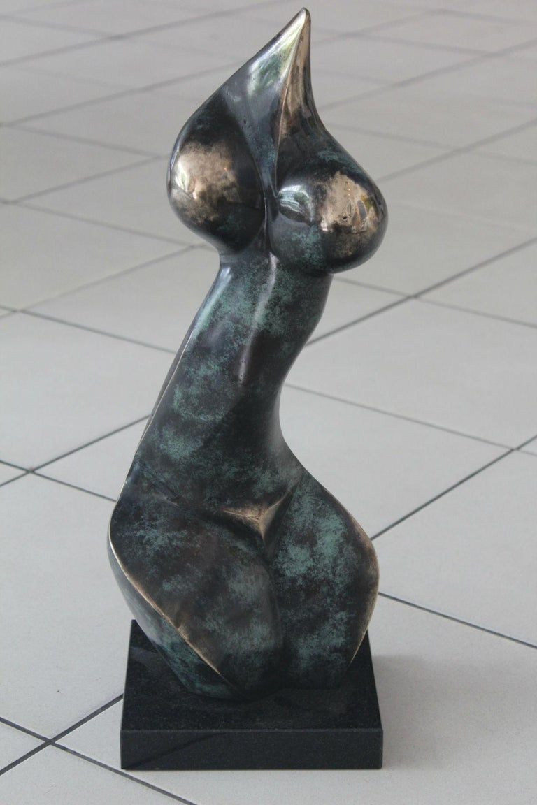 Nude - XXI Century, Contemporary Bronze Sculpture, Abstract, Figurative For Sale 5
