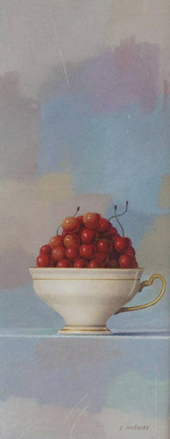 Cherries - XXI Century, Contemporary Still life Oil Painting, Realistic