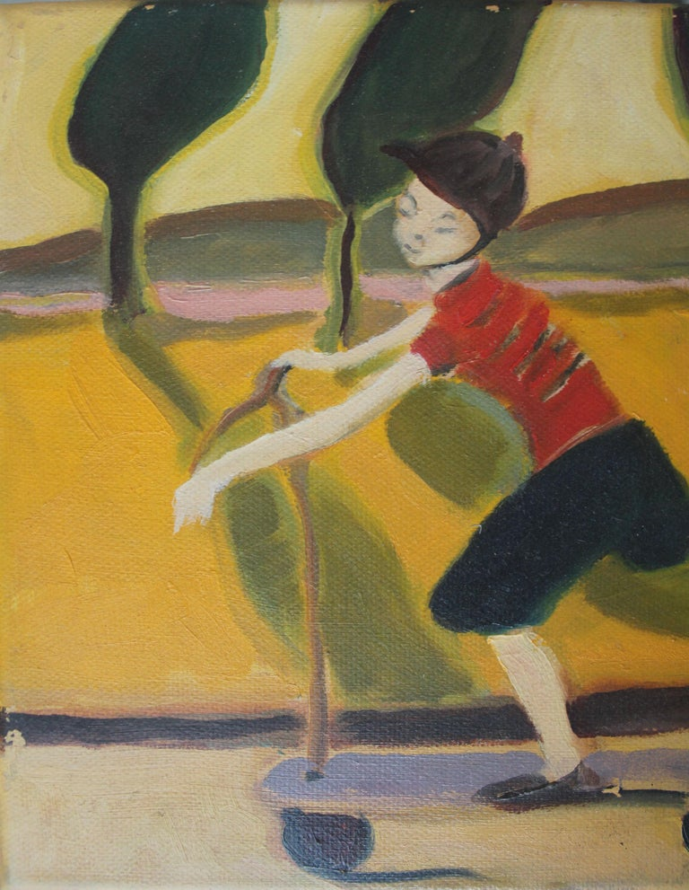 Scooter - XXI century, Contemporary Oil Painting, Bright Vibrant Colors For Sale 2