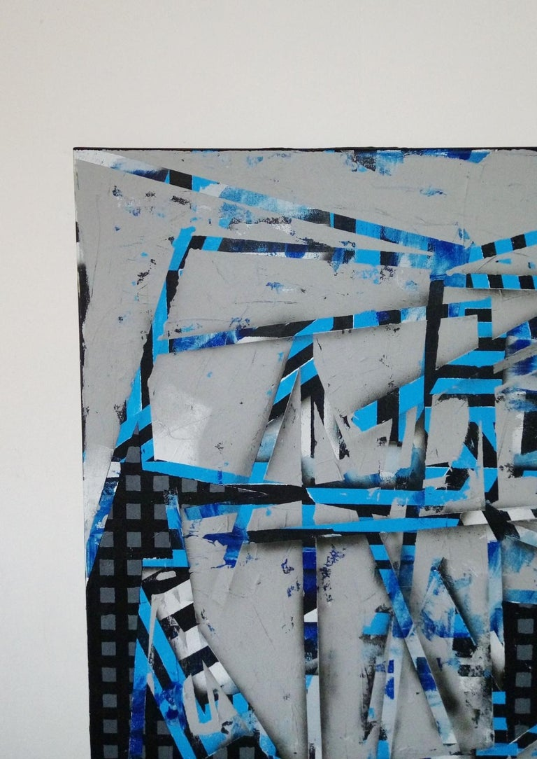 No title (31) - XXI Century, Contemporary Acrylic Abstract Painting, Geometric For Sale 2