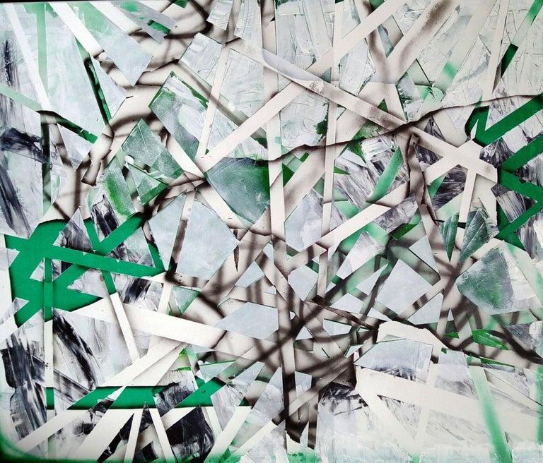Acrylic abstract painting with vibrant colors by Polish artist Magda Karwowska