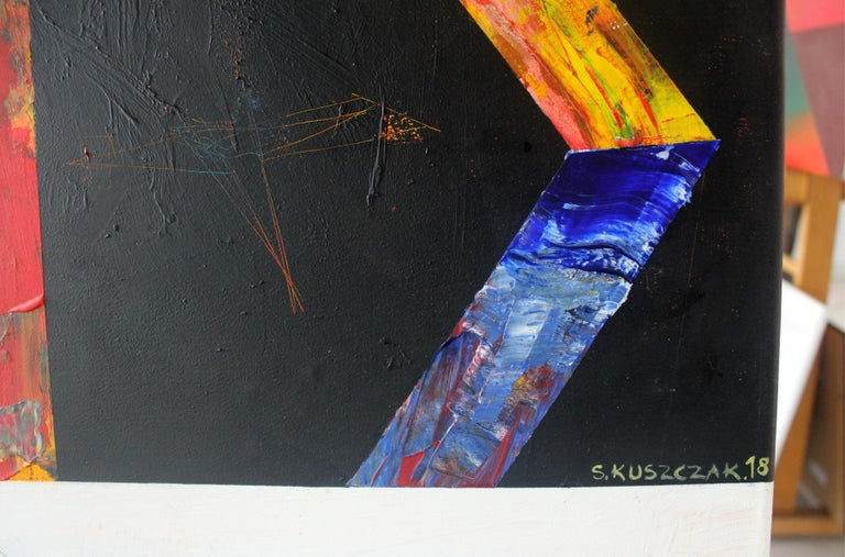 Aesthetics - XXI century, Acrylic Painting, Abstract, Colorful, Vibrant Colors For Sale 6