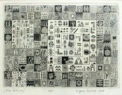 My labirynths - XXI century Etching, Abstract & figurative, Black & white mosaic