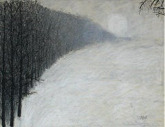 Fog - XXI Century, Contemporary Pastel Drawing, Landscape