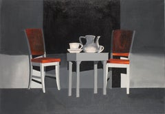 Interior - XXI Century, contemporary oil painting, Light & shadow contrasts