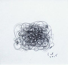Composition - XXI Century, Contemporary Ink Drawing, Abstract shapes