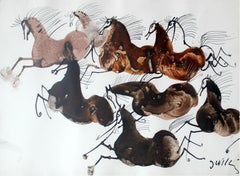 Horses - Contemporary art, Figurative Painting, Animals, Classics, Art master