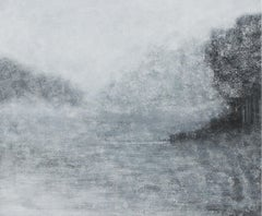 Dispersion LVIII - XXI century, Abstract landscape painting, Young art, Gray
