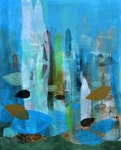 The city of grass- XXI century, Acrylic painting, Abstraction, Bright & colorful