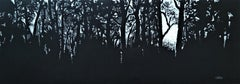 Forest in Laski - XXI Century, Contemporary Pastel Drawing, Landscape
