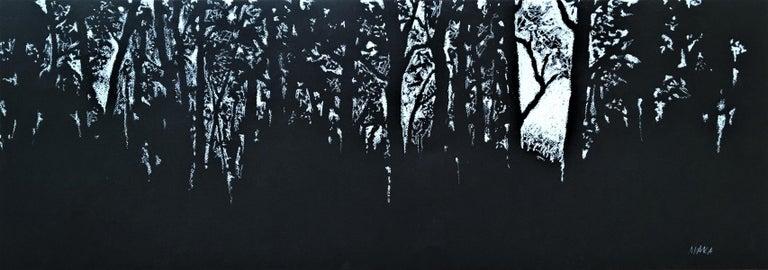 Maka Cielecka  Figurative Art - Forest in Laski - XXI Century, Contemporary Pastel Drawing, Landscape