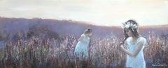 The Braid - XXI Century, Contemporary Figurative Oil Painting, Landscape