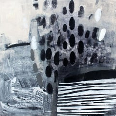 And even traces - 21st century, Acrylic painting, Abstraction, Black and white