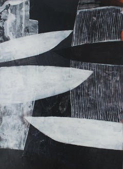 Wings of an Angel - XXI century, Acrylic painting, Abstraction, Black and white
