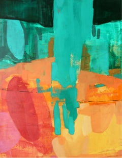 Transfer moment - XXI century, Abstract Painting, Colorful Palette, Dynamic