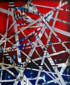City (7) - XXI Century, Contemporary Acrylic Abstract Painting, Geometric