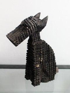 Dog - Contemporary art, Figurative wooden sculpture, Animals, Classics