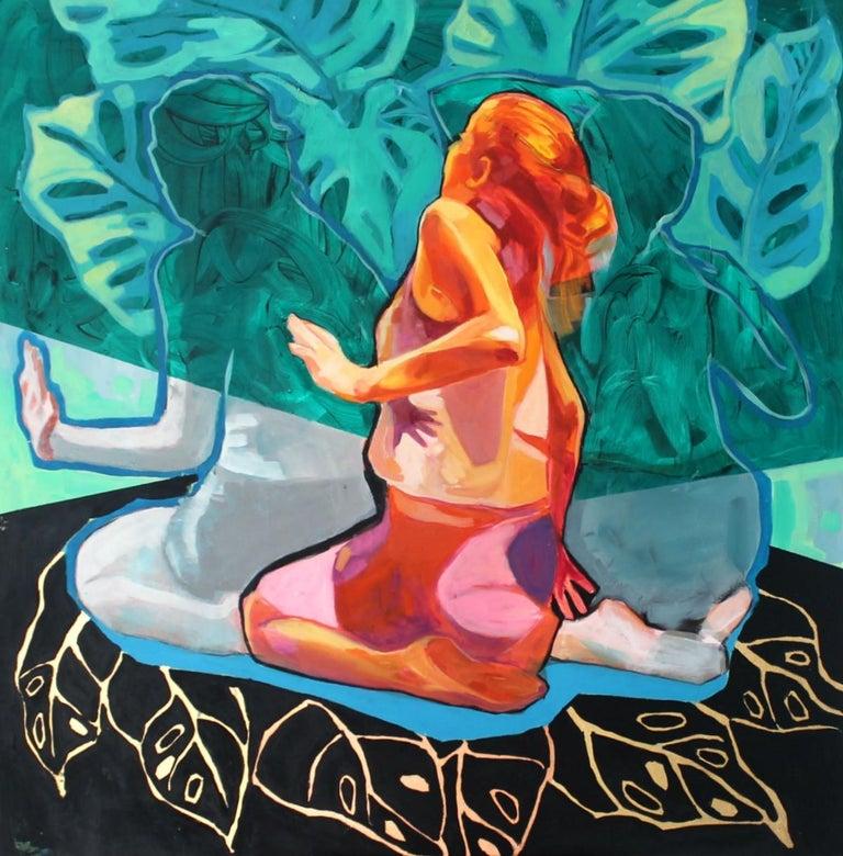 Anna Masiul-Gozdecka Figurative Painting - Untitled- XXI century, Figurative Acrylic Painting, Colorful Palette, Dynamic