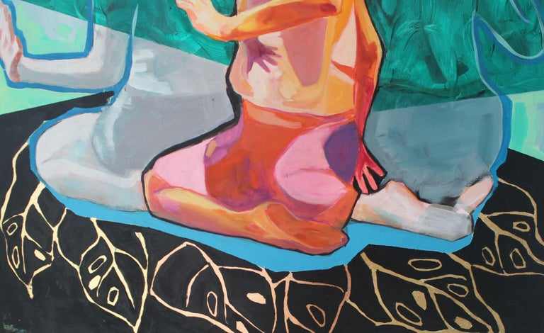 Untitled- XXI century, Figurative Acrylic Painting, Colorful Palette, Dynamic For Sale 2