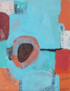 A game 3 - XXI Century, Contemporary Abstract Oil Painting, Bright Colors