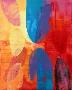 Aurora- XXI century, Abstract painting, Acrylics, Colorful Palette, Warm tones
