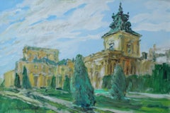 Wilanow, the Royal Palace (Warsaw) - Acrylic painting, Landscape, Architecture