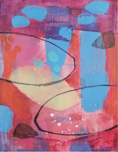 Seeds 3 - XXI Century, Contemporary Abstract Oil Painting, Bright Colors