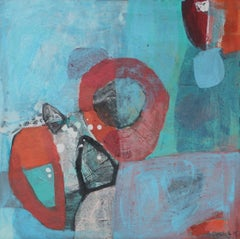 A game 2 - XXI Century, Contemporary Abstract Oil Painting, Bright Colors