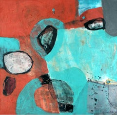A game 1 - XXI Century, Contemporary Abstract Oil Painting, Bright Colors