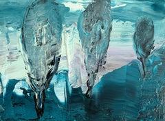 Landscape - XXI century Acrylic painting, Abstaction & Figurative, Monochromatic
