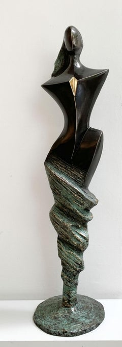 Wind venus - XXI century Contemporary bronze sculpture, Abstract & figurative