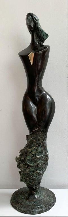 Wave venus - XXI century Contemporary bronze sculpture, Abstract & figurative
