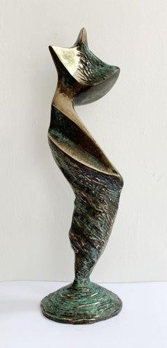 Dame II - XXI century Contemporary bronze sculpture, Abstract & figurative