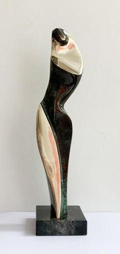 Dame III - XXI century Contemporary bronze sculpture, Abstract & figurative