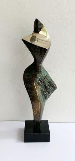 Dame VII - XXI century Contemporary bronze sculpture, Abstract & figurative