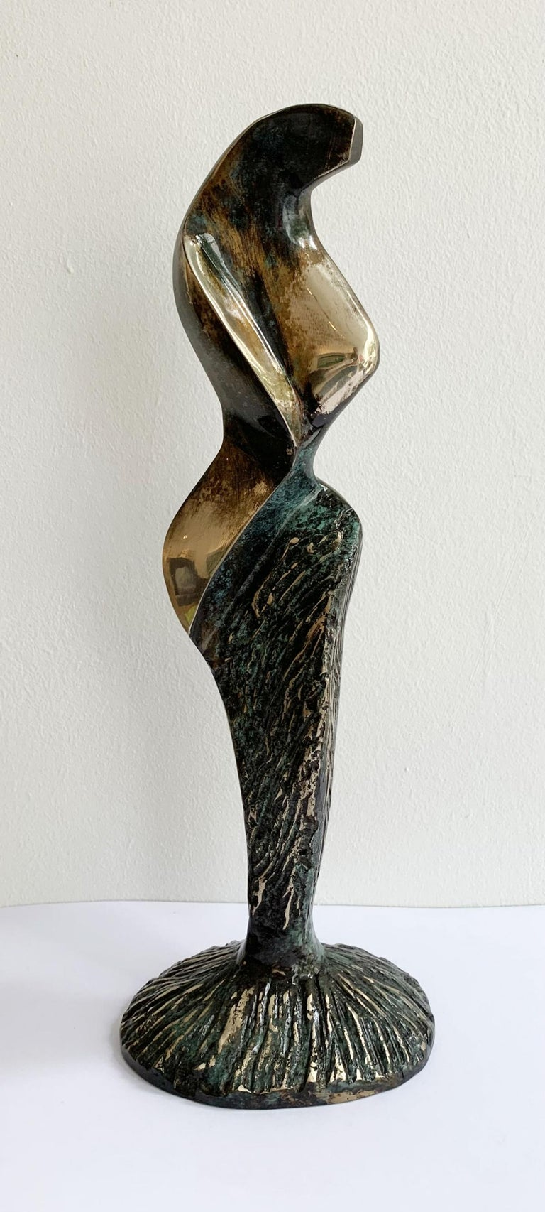 Stanisław Wysocki Abstract Sculpture - Dame VIII - XXI century Contemporary bronze sculpture, Abstract & figurative