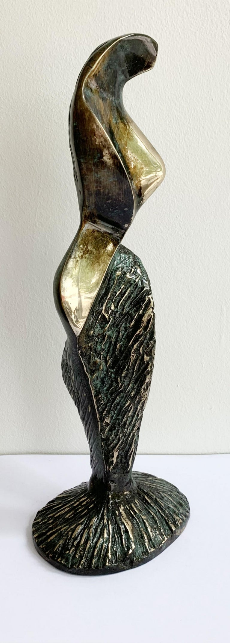 Dame VIII - XXI century Contemporary bronze sculpture, Abstract & figurative - Sculpture by Stanisław Wysocki