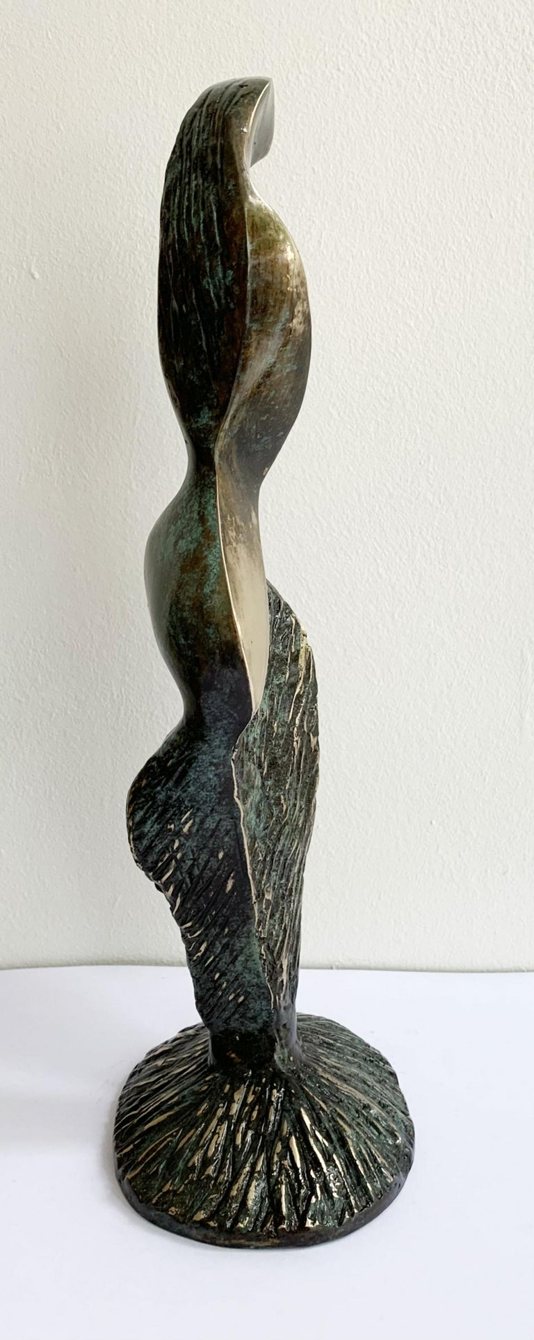 Dame VIII - XXI century Contemporary bronze sculpture, Abstract & figurative - Gold Abstract Sculpture by Stanisław Wysocki
