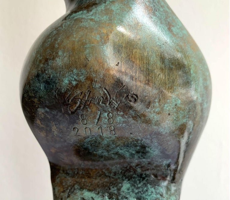 Dame VIII - XXI century Contemporary bronze sculpture, Abstract & figurative For Sale 1