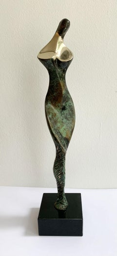 Nude - XXI century Contemporary bronze sculpture, Abstract & figurative