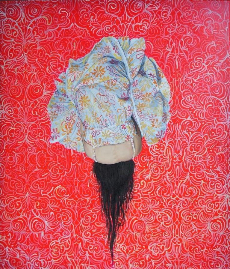 Kamila Gruszecka Figurative Painting - Standby V - XXI Century, Oil painting, Contemporary Figurative
