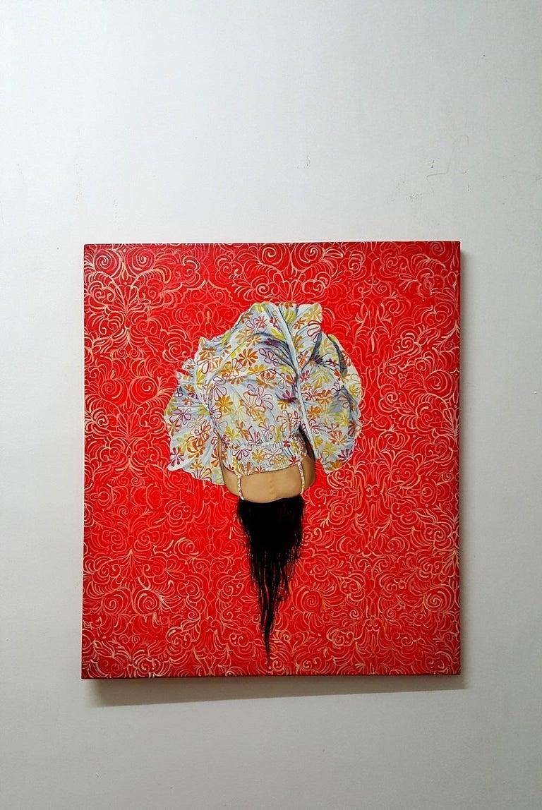 Standby V - XXI Century, Oil painting, Contemporary Figurative - Painting by Kamila Gruszecka