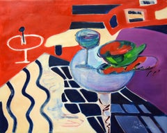 On a carpet - XXI Century, Still life, Figurative Oil Painting, Bright Colors