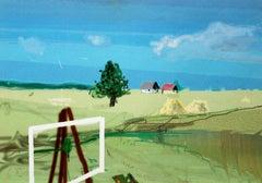 Plain-air - XX Century, Figurative Landscape Print, Colorful, Vibrant colors