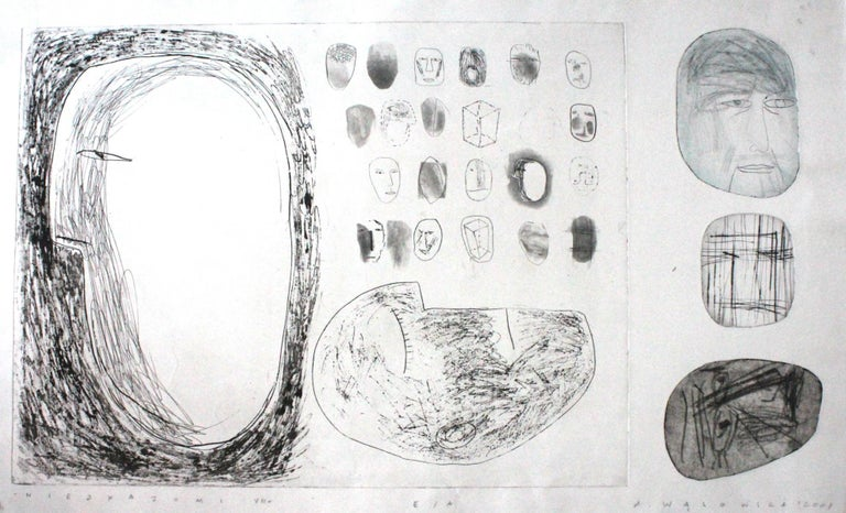 Agata Wasowska Figurative Print - Strangers - XXI Century, Contemporary Etching Print, Black and White, Figurative